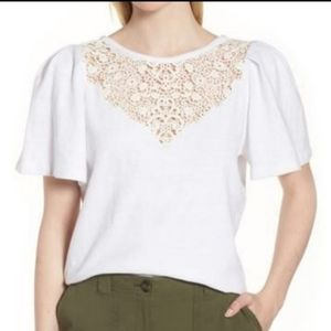 NWT Nordstrom Signature Lace Yoke top